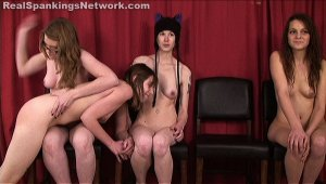 Real Spankings - Four Naked Girls Spanked (part 4 Of 4) - image 4