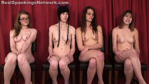 Real Spankings - Four Naked Girls Spanked (part 4 Of 4) - image 2