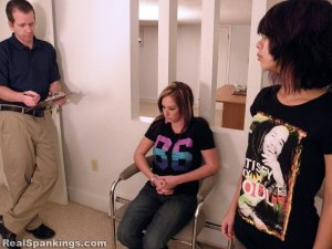 Real Spankings - Riley And Kiki Face A Hard School Paddling (part 1 Of 2) - image 16