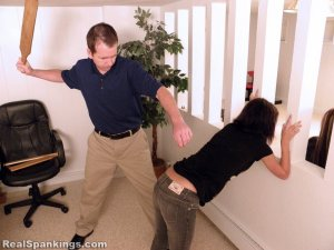Real Spankings - Riley And Kiki Face A Hard School Paddling (part 1 Of 2) - image 9