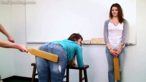 Real Spankings - School Swats: Rae And Maya - image 9