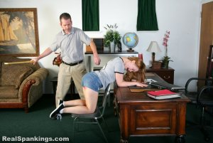 Real Spankings - Stevie Is Paddled By The Principal - image 16