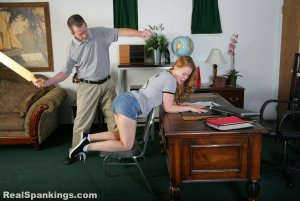 Real Spankings - Stevie Is Paddled By The Principal - image 7