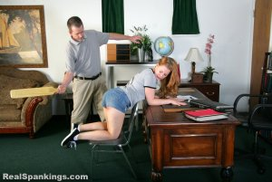 Real Spankings - Stevie Is Paddled By The Principal - image 2