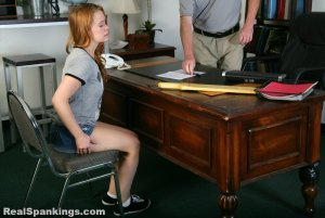 Real Spankings - Stevie Is Paddled By The Principal - image 13