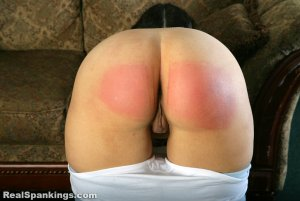 Real Spankings - Kenzie Is Interviewed And Spanked With The Belt - image 4