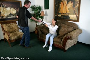Real Spankings - Kenzie Is Interviewed And Spanked With The Belt - image 16