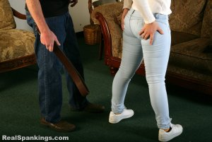 Real Spankings - Kenzie Is Interviewed And Spanked With The Belt - image 13