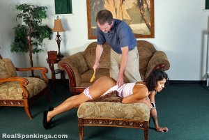 Real Spankings - Cleo Is Spanked At Home (part 2 Of 2) - image 10