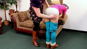 Real Spankings - Kestrel Is Spanked For Being Sent Home From Work (part 1 Of 2) - image 11
