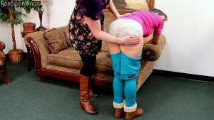 Real Spankings - Kestrel Is Spanked For Being Sent Home From Work (part 1 Of 2) - image 13