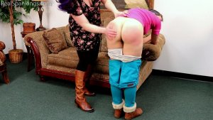 Real Spankings - Kestrel Is Spanked For Being Sent Home From Work (part 1 Of 2) - image 7