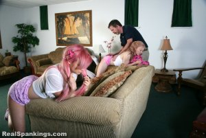 Real Spankings - Sleepover Straddle Spanking (part 1 Of 4) - image 1