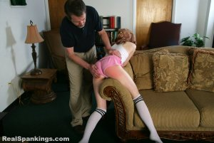 Real Spankings - Sleepover Straddle Spanking (part 1 Of 4) - image 5