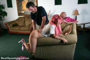 Real Spankings - Sleepover Straddle Spanking (part 4 Of 4) - image 5