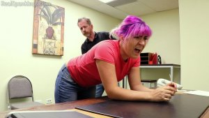 Real Spankings - Stella Is Paddled By The Principal - image 13
