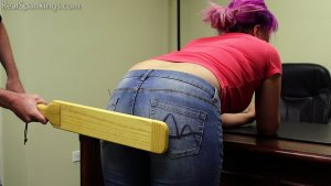 Real Spankings - Stella Is Paddled By The Principal - image 11
