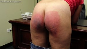 Real Spankings - Stella Is Paddled By The Principal - image 10
