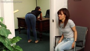 Real Spankings - Kiki And Ambriel Paddled By The Principal (part 1 Of 2) - image 2