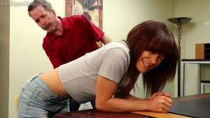 Real Spankings - Kiki And Ambriel Paddled By The Principal (part 1 Of 2) - image 5
