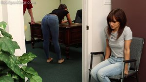 Real Spankings - Kiki And Ambriel Paddled By The Principal (part 1 Of 2) - image 11