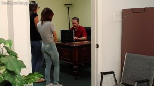 Real Spankings - Kiki And Ambriel Paddled By The Principal (part 1 Of 2) - image 4