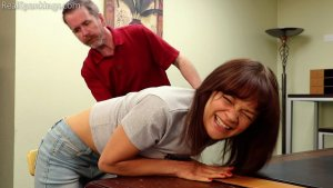 Real Spankings - Kiki And Ambriel Paddled By The Principal (part 1 Of 2) - image 6