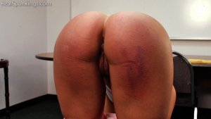 Real Spankings - Cleo: Paddled By Mr. M - image 9
