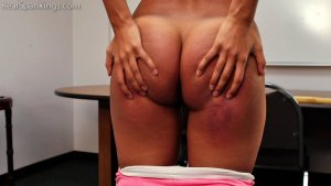 Real Spankings - Cleo: Paddled By Mr. M - image 2