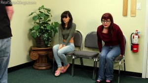 Real Spankings - Two Girls Paddled (part 2 Of 2) - image 1