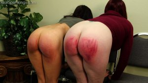 Real Spankings - Two Girls Paddled (part 2 Of 2) - image 9