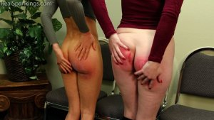 Real Spankings - Two Girls Paddled (part 2 Of 2) - image 8