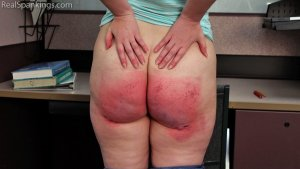 Real Spankings - Alex Requests A Paddling To Get Out Of Suspension - image 1