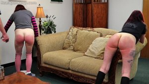 Real Spankings - Isabella And Anastasia Hand Spanked Together (part 2 Of 2) - image 1