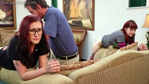 Real Spankings - Isabella And Anastasia Hand Spanked Together (part 2 Of 2) - image 2