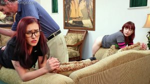 Real Spankings - Isabella And Anastasia Hand Spanked Together (part 2 Of 2) - image 4