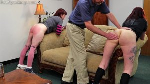 Real Spankings - Isabella And Anastasia Hand Spanked Together (part 2 Of 2) - image 11