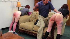 Real Spankings - Isabella And Anastasia Hand Spanked Together (part 2 Of 2) - image 8