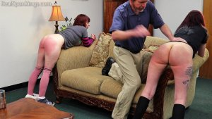 Real Spankings - Isabella And Anastasia Hand Spanked Together (part 2 Of 2) - image 5