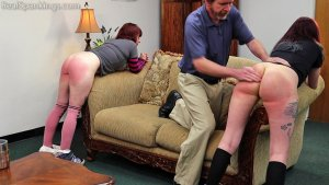 Real Spankings - Isabella And Anastasia Hand Spanked Together (part 2 Of 2) - image 6