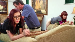 Real Spankings - Isabella And Anastasia Hand Spanked Together (part 2 Of 2) - image 7