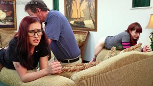 Real Spankings - Isabella And Anastasia Hand Spanked Together (part 2 Of 2) - image 9