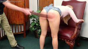 Real Spankings - Cara: Caught With Cigarettes... Again. - image 2