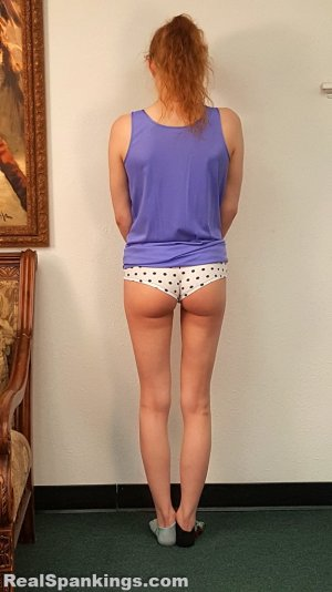 Real Spankings - Julia Is Spanked Before Bed - image 1