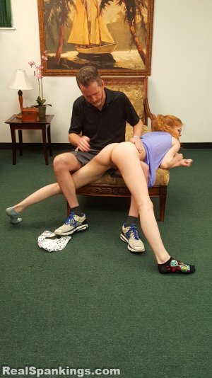 Real Spankings - Julia Is Spanked Before Bed - image 2