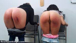 Real Spankings - Kiki And Cara Sent For A Paddling (part 2 Of 2) - image 17