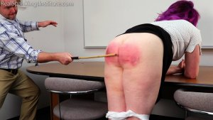 Real Spankings Institute - Betty Is Punished For Abusing Her Power (part 2 Of 2) - image 3