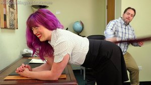 Real Spankings Institute - Betty Is Punished For Abusing Her Power (part 1 Of 2) - image 8