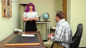 Real Spankings Institute - Betty Is Punished For Abusing Her Power (part 1 Of 2) - image 2