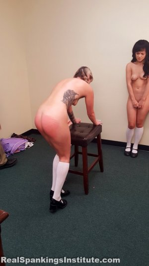 Real Spankings Institute - 2 Naughty Girls Spanked (part 3 Of 4) - image 5